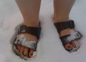 få kalla fötter